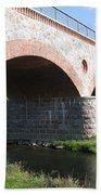 Old Railway Bridge In Silute. Lithuania. Summer Beach Towel