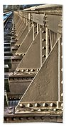 Old Railway Bridge In The Netherlands Beach Towel