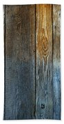 Old Reclaimed Wood - Rustic Red Painted Wall  Beach Towel