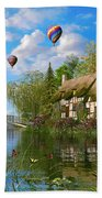 Old River Cottage Beach Towel by Dominic Davison