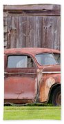 Old Rusty Car Beach Towel