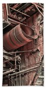 Old Rusty Pipes Beach Towel