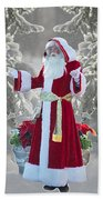 Old Saint Nick Beach Towel