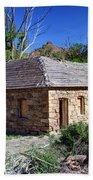 Old Sandstone Brick Farm House Nine Mile Canyon - Utah Beach Sheet