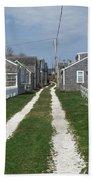 Old 'sconset Nantucket Houses Beach Towel