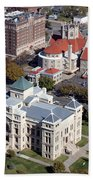 Old Sedgwick County Courthouse In Wichita Beach Towel