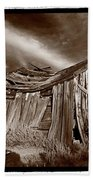 Old Shack Bodie Ghost Town Beach Sheet