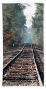 Old Southern Tracks Beach Towel