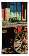Old Station Cart Beach Towel