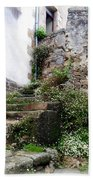 Old Stone Steps Beach Towel