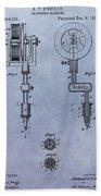 Old Tattoo Gun Patent Beach Towel