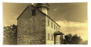 Old Time East Point Light Beach Sheet