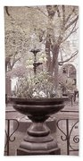 Old Time Fountain Beach Towel