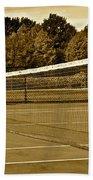 Old Time Tennis Beach Towel