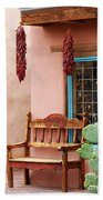 Old Town Albuquerque Shop Window Beach Towel
