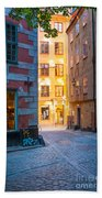 Old Town Alley Beach Towel