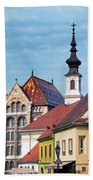 Old Town Buildings In Budapest Beach Towel
