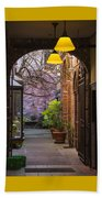Old Town Courtyard In Victoria British Columbia Beach Towel