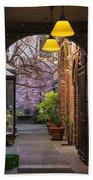 Old Town Courtyard In Victoria British Columbia Beach Towel by Ben and Raisa Gertsberg
