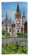 Old Town Hall Munich Germany Beach Towel