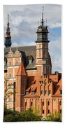 Old Town Of Gdansk In Poland Beach Towel