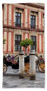 Old Town Of Seville In Spain Beach Towel