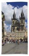 Old Town Square Prague Czech Republic  Beach Towel