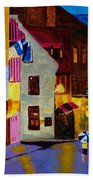 Old Towne Quebec Beach Towel