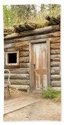 Old Traditional Log Cabin Rotting In Yukon Taiga Beach Towel