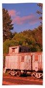 Old Train Caboose Beach Towel