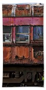 Old Train Car Beach Towel by Garry Gay