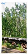 Old Tramway In Canyon City  Miles Canyon Trail Near Whitehorse-yk Beach Towel
