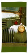Old Truck Abstract Beach Towel