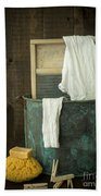 Old Washboard Laundry Days Beach Towel by Edward Fielding