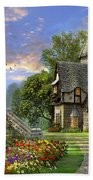 Old Waterway Cottage Beach Towel