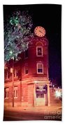 Old Wedge Bank  Building  Haunted Alton Ill Beach Towel