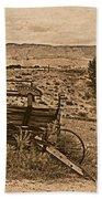 Old West Wagon Beach Towel