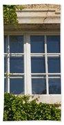 Old Window With Creeper. Beach Towel