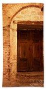 Old Wooden Doors Beach Sheet