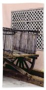 Old Wooden Wagon Beach Towel by Marilyn Hunt
