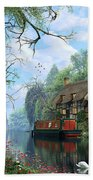Old Woodland Cottage Beach Towel