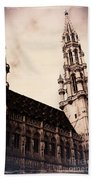 Old World Grand Place Beach Towel