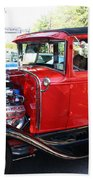 Oldie But Goodie - Classic Antique Car Beach Towel