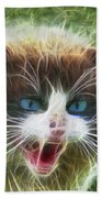 Ole Blue Eyes - Square Version Beach Towel