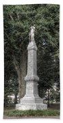 Ole Miss Confederate Statue Beach Towel