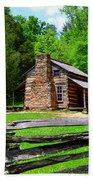 Oliver Cabin 1820s Beach Towel by David Lee Thompson