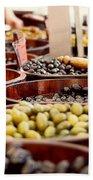 Olives In Barrels Beach Towel
