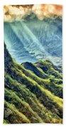 Olomana And The Koolau Range Beach Towel