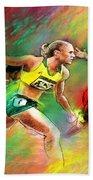 Olympics 100 Metres Hurdles Sally Pearson Beach Sheet