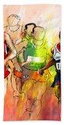 Olympics 10000m Run 01 Beach Towel